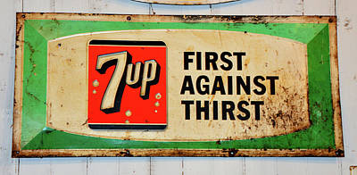 Photograph - 7up Sign by David Lee Thompson