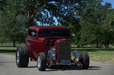 Photograph - 1932 Ford Coupe Hot Rod by TeeMack