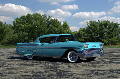 Photograph - 1958 Chevrolet Impala by TeeMack