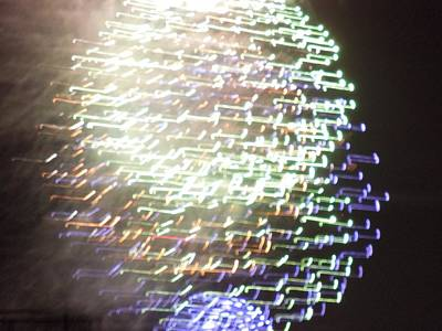 Photograph - Abstract Fireworks by Ron Davidson