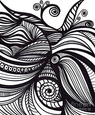 Marker Wall Art - Drawing - Abstract by HD Connelly