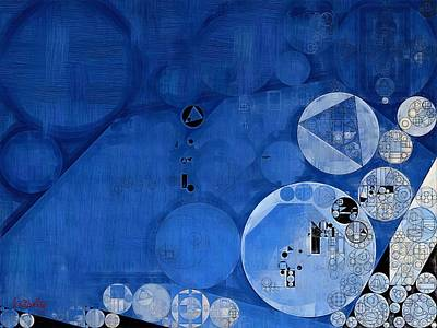 Cerulean Blue Digital Art - Abstract Painting - Sapphire by Vitaliy Gladkiy