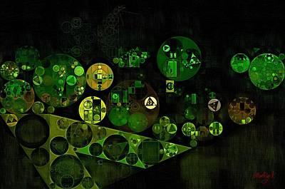 Rectangles Digital Art - Abstract Painting - Smoky Black by Vitaliy Gladkiy