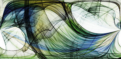Abstract Seascape Mixed Media - Abstract - Shreem by Sir Josef - Social Critic - ART