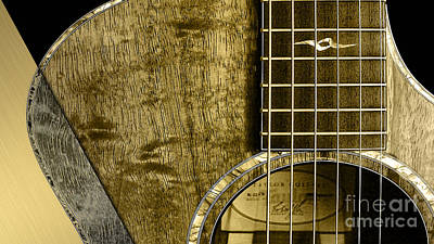 Poster Mixed Media - Acoustic Guitar Collection by Marvin Blaine