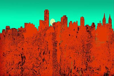 Digital Art - Adelaide  Australia Skyline by Marlene Watson