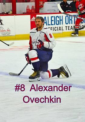 Photograph - #8 Alexander Ovechkin by Lisa Wooten