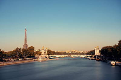 Photograph - Alexandre IIi Bridge by Songquan Deng