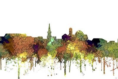 Digital Art - Alexandria Virginia Skyline by Marlene Watson