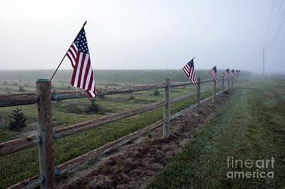 Photograph - American Flag Farmland by Jim Corwin