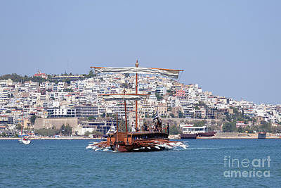 Galley Photograph - Ancient Trireme by George Atsametakis