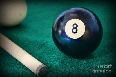 9 Ball Photograph - 8 Ball by Paul Ward