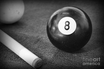 9 Ball Photograph - 8 Ball Side Pocket by Paul Ward
