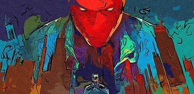 Batman Digital Art - Batman Two Face Print by Egor Vysockiy