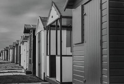 Painted Door Photograph - Beach Huts by Martin Newman