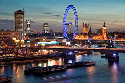 State Love Nancy Ingersoll - Beautiful landscape image of the London skyline at night looking by Matthew Gibson