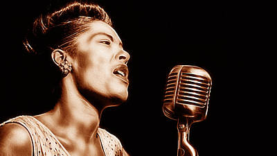 Billie Holiday Collection Art Print by Marvin Blaine