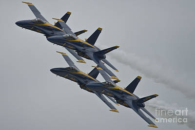Liberty Painting - Blue Angels by Celestial Images