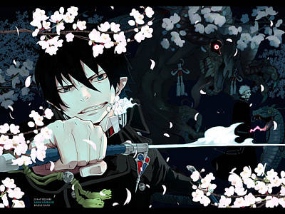 Blue Digital Art - Blue Exorcist by Super Lovely