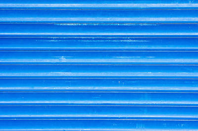 Construction Photograph - Blue Metal by Tom Gowanlock