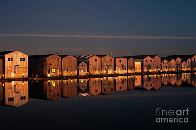 Photograph - Boathouse Reflections  by Jim Corwin