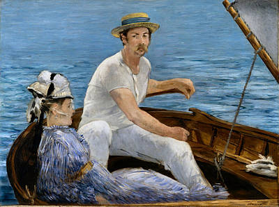Photograph - Boating by Edouard Manet