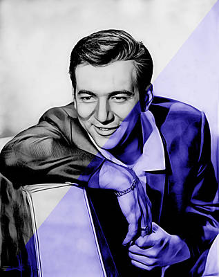 Singer Mixed Media - Bobby Darin Collection by Marvin Blaine