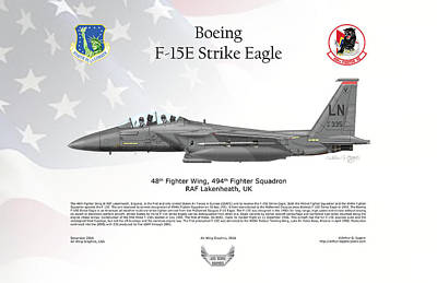 Digital Art - Boeing F-15e Strike Eagle by Arthur Eggers