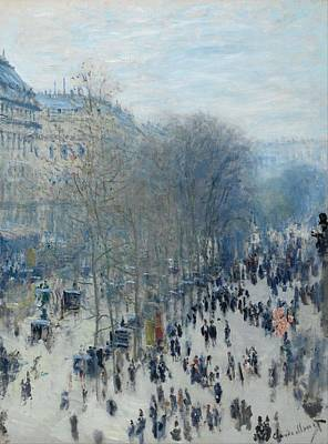 French Cities Painting - Boulevard Des Capucines by Claude Monet