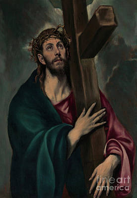 Crucifix Painting - Christ Carrying The Cross by El Greco