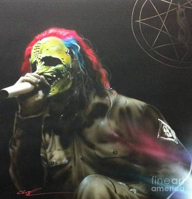 Pentagram Art Painting - Corey Taylor - '#8' by Christian Chapman Art