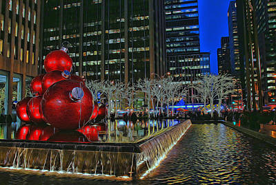 Photograph - Christmas In The City by Allen Beatty
