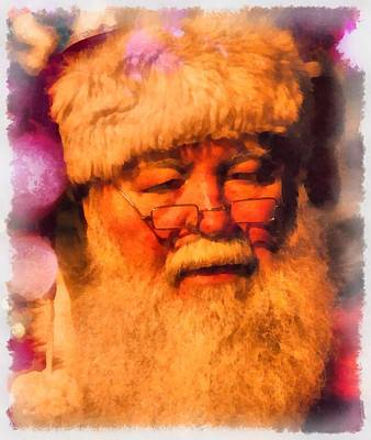 Santa Claus Painting - Christmas Santa Claus by Esoterica Art Agency