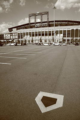 Baseball Mural Photograph - Citi Field - New York Mets by Frank Romeo