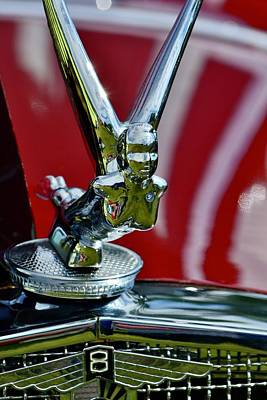 Photograph - Classic Hood Ornament by Dean Ferreira