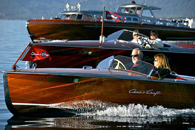 Classic Wooden Runabouts Print by Steven Lapkin