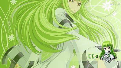 Curve Digital Art - Code Geass by Super Lovely
