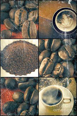 Coffee Collage Art Print