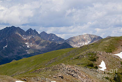 Steven Krull Royalty-Free and Rights-Managed Images - Cottonwood Pass and the Colorado Continental Divide by Steven Krull