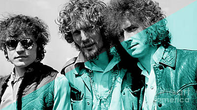 Blues Mixed Media - Cream Eric Clapton Jack Bruce Ginger Baker by Marvin Blaine