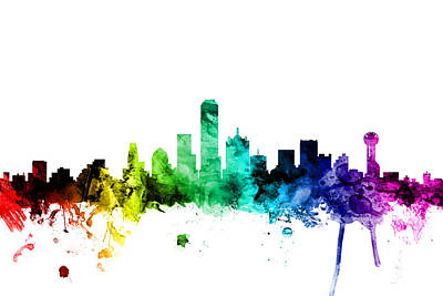 Dallas Texas Skyline Art Print