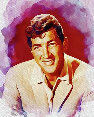 Music Paintings - Dean Martin, Hollywood Legend by Esoterica Art Agency