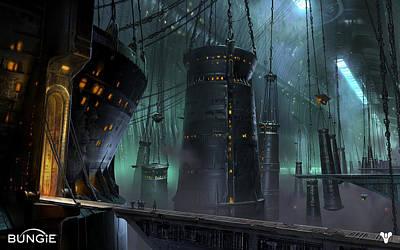 Skyline Digital Art - Destiny by Super Lovely