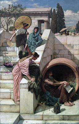 Painting - Diogenes by John William Waterhouse