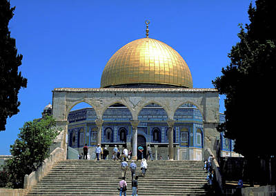 Photograph - Sacred Dome Of The Rock In Jerusalem by Carl Purcell