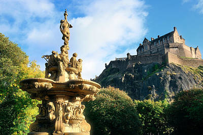 Keith Richards - Edinburgh castle by Songquan Deng