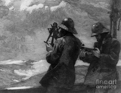 Wet On Wet Painting - Eight Bells by Winslow Homer