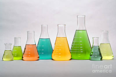 Fluid Photograph - Equipment In Science Research Lab by Olivier Le Queinec