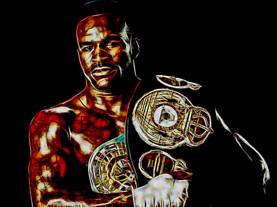 Mixed Media - Evander Holyfield Collection by Marvin Blaine