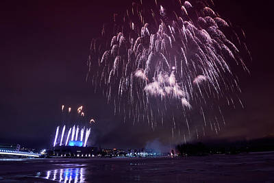 Photograph - Fireworks Finland 100 Years by Jouko Lehto